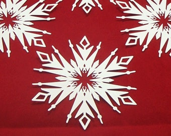 16 Large Paper Snowflake Cut Outs Bulletin Board Snowflake Disney Frozen Decor, Winter Wedding Decor, Winter Party Decorations, Office Decor