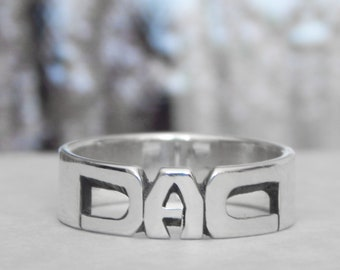 Letter Ring - Sterling Silver - 5mm Band - Jewelry - Rings - Personalized Jewelry - Name Rings - Gifts - Baby Names