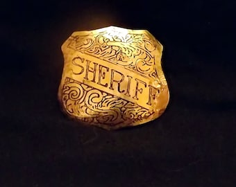 Steampunk Sheriff  Badge