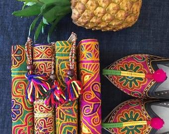 Banjara hand embroidery wallet/ vintage Indian Banjara fabric  wallet/hand embroidered Multicolors wallet/ Gypsy Boho wallet by Inali