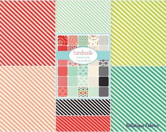 Sale! FAT Quarters BONNIE & CAMILLE Stripes Fat Quarter Bundle (7fq's) Handmade Collection Moda Fabric