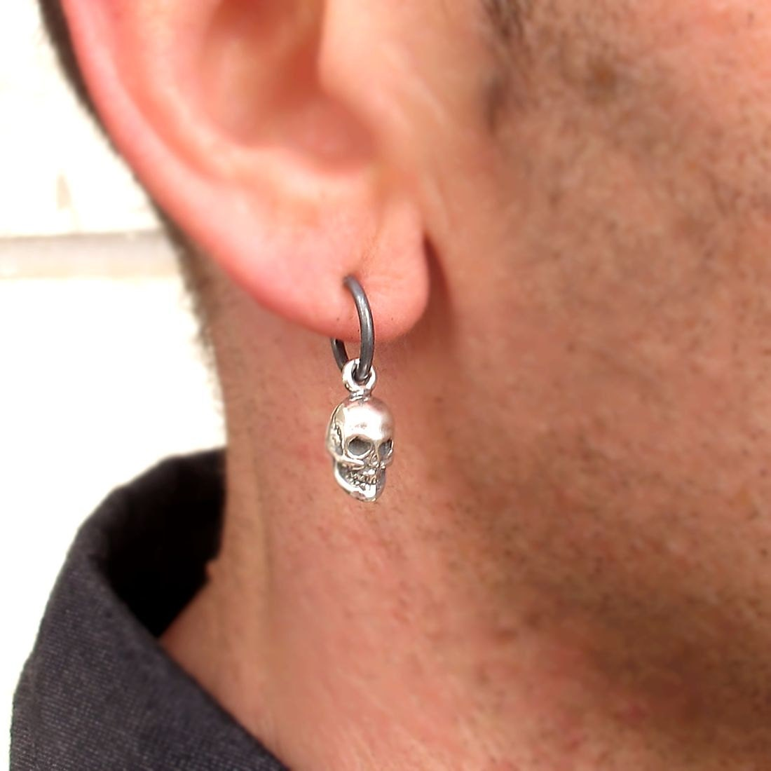 Mens Earring Skull Earring for Men Mens Jewelry Punk