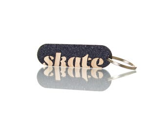 skateboard keyring | customise | lasercut