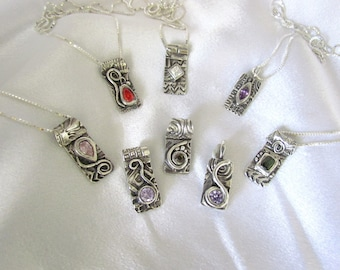 """Item 6085 - """"Bling On Collection"""" Made to Order Custom Handcrafted 999 Fine Silver Set with Your choice of CZ"""