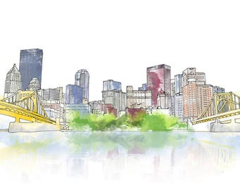 Pittsburgh Downtown - CANVAS
