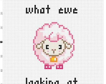 what ewe looking at cross stitch pattern