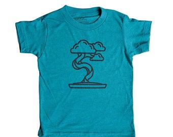 Bonsai Tree Shirt for Kids   Zen Garden   Minimalist   Child   Clothes   Tees   For Gift   Birthday   Triblend