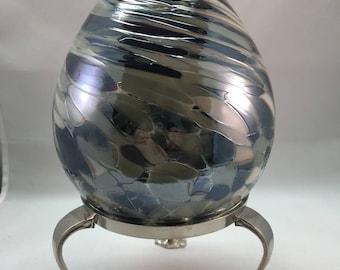 Hand Blown Glass Oil Lamp