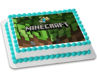 Minecraft Customizable Edible Image (8.5x11)
