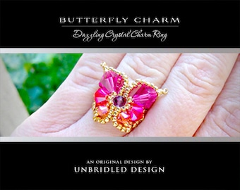 Crystal Butterfly Charm pdf beading tutorial