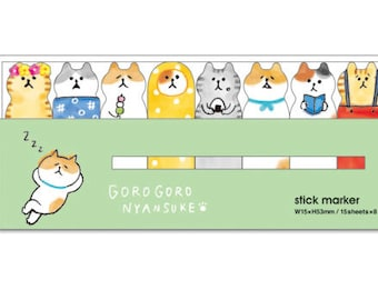 Japanese Kawaii Cute relaxing cats sticky note