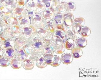 Crystal AB Czech Lentil Beads 6 mm, 50 pcs (8296)