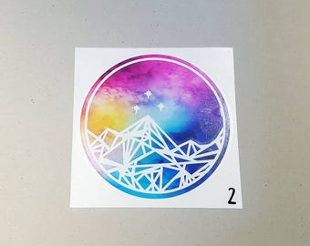 Large Patterned Night Court Vinyl Decal <More Options Available> DS012