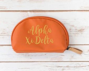 Alpha Xi Delta Make up Pouch, Sorority, Make up bag, Zipper Pouch