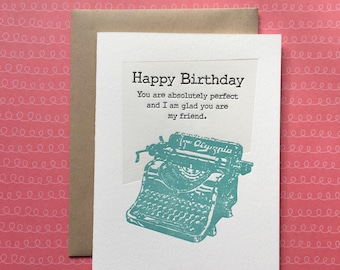 Absolutely Perfect Birthday Letterpress Card