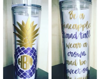 Be A Pineapple, Stand Tall Wear A Crown And Be Sweet On The Inside* Pineapple Monogram*