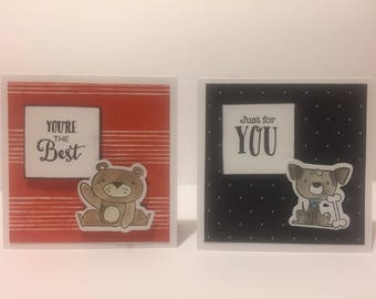 Handmade animal cards