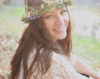 Foliage Bridal Flower crown summer Hair Wreath headpiece greenery leaves Mother Nature artificial Wedding Accessories halo