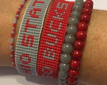 Ohio State Buckeyes bracelet, buckeyes bracelet, OSU jewelry, BIG 10 bracelet, College Jewelry