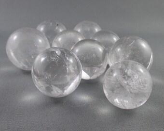 "Quartz Sphere 3/4"" - Crystal Ball, Clear Quartz, Chakra Healing Crystals & Stones, Reiki Healing, Crystal Sphere, Meditation Stones (T217)"