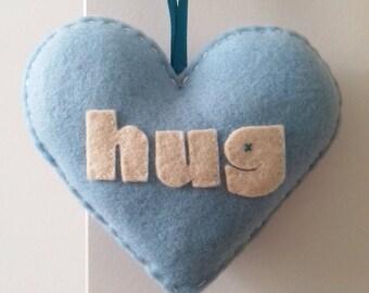 Aime à embrasser - Light Blue Love coeur décoration