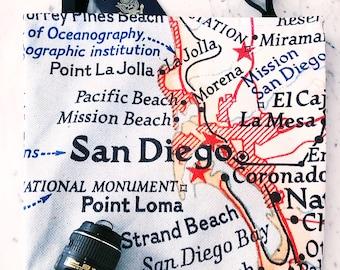San Diego Map Tote - San Diego Map Bag - San Diego Tote Bag - San Diego Bag - Travel Tote - San Diego Tote - Bachelorette Party