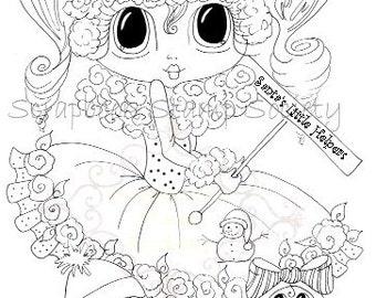 INSTANT DOWNLOAD Digital Digi Stamps Big Eye Big Head Dolls Digi  My - Besties Santa's Little Helper Bestie By Sherri Baldy