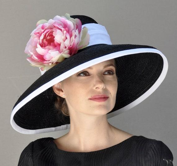 Ascot hat, Wedding Hat, Derby Hat, Church hat, formal hat, Audrey Hepburn hat, occasion hat