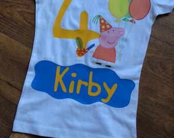 Peppa Pig Birthday Shirts
