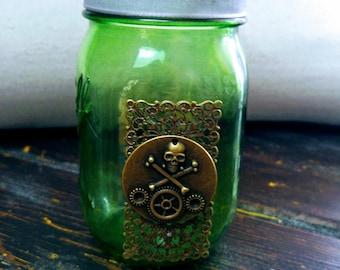 Hand-Decorated Steampunk Jar