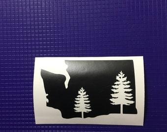 Washington state w/evergreen