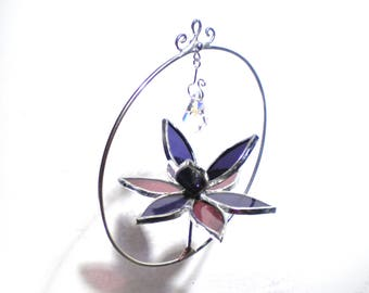 Elated - Stained Glass Lotus Spinner - Mini Purple Flower Home Garden Decor Nature Yard Art Suncatcher Ornament Crystal (READY TO SHIP)