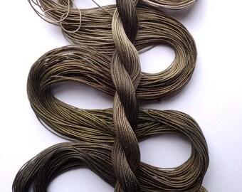 "Size 20 ""Khaki"" hand dyed thread 6 cord cordonnet tatting crochet cotton"