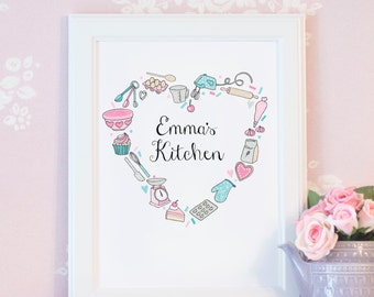 Personalised Baking Print - Those Who Bake Collection - Custom Baking Gift