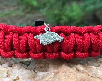 University of Arkansas Razorbacks Paracord Bracelet