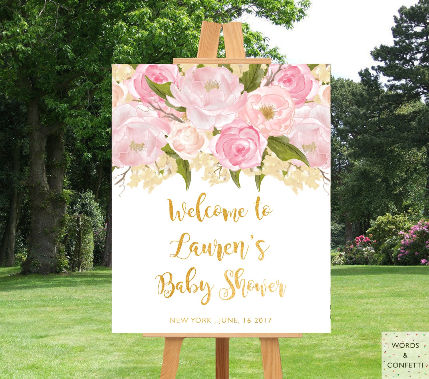 Baby shower decorations girl baby shower decor baby shower - Decoration baby shower girl ...
