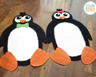 CROCHET PATTERN Floppy The Penguin Rug PDF Crochet Pattern with Instant Download