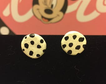 "Disney inspired ""Dalmation"" polymer clay earrings"