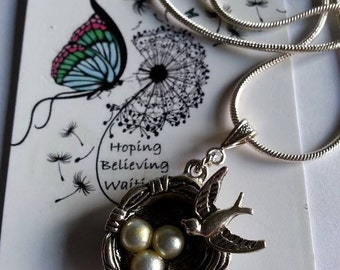 Little Mother Bird Nest Necklace