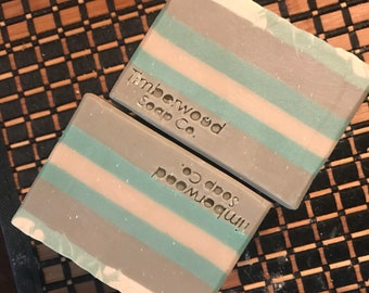 Turquoise Silk Herbal Palm-Free Soap