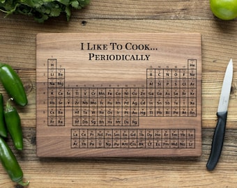 Periodic cutting etsy personalized cutting board engraved chopping boardanniversary gift housewarming wedding gift christmas urtaz Images