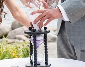 Heirloom Wedding Hourglass - The Wedding Day in Black Unity Sand Ceremony Hourglass ™