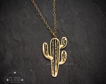 Cactus jewelry cactus necklace succulent jewelry succulent necklace unique jewelry minimalist jewelry boho necklace delicate necklace