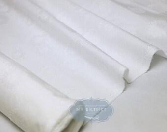 Japanese white cotton jacquard fabric