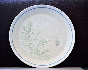 Butterfly Dinner Plates/Salad Plates/Lenox/Fancy Free/Temperware/Dinnerware Plates/Mircowave Safe Plates/Butterfly Plates/1972-1987
