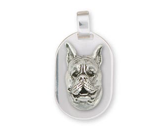 Boxer Pendant Jewelry Sterling Silver Handmade Dog Pendant BX8-DT