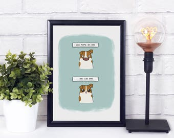Dogs Are Cute A4 Art Print