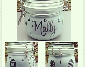 Personalised Engraved Easter Kilner Style Jar - Perfect to fill with goodies