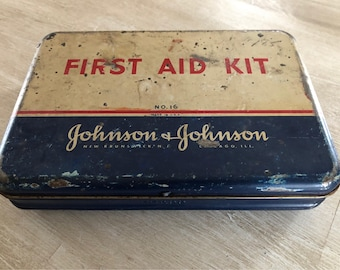 Vintage Johnson and Johnson first Aid Kit