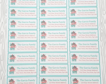 Home Sweet Home Customizable Return Address Labels (Set of 30) Item #676